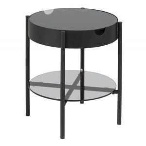 Hector Konferenční stolek s tácem Asava 45 cm černý