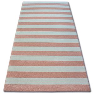 3kraft Kusový koberec SKETCH MATT růžový / krémový - pásky