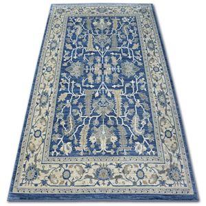 3kraft Kusový koberec ARGENT - W7039 květiny námořnická modrá / krémový
