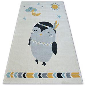 3kraft Kusový koberec PASTEL 18401/062 - tučňák krémový
