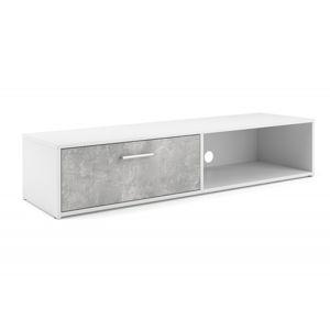 Hector TV stolek Simi RTV 140 cm bílý/beton