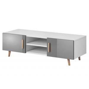 Hector TV stolek Nico L RTV 140 cm bílý/šedý
