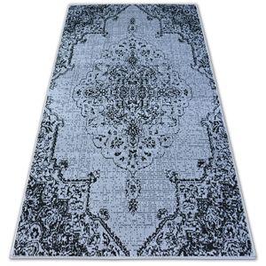 3kraft Kusový koberec BCF BASE VINTAGE 3971 ROZETA šedý/černý