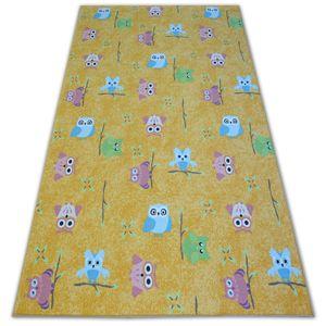 3kraft Dětský kusový koberec LITTLE OWL žlutý