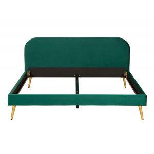 Hector Čalouněná postel Rubic 160x200 dvoulůžko - tmavě zelené