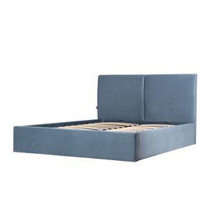 Hector Čalouněná postel Hold 140x200 dvoulůžko - modré
