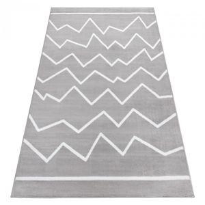 3kraft Kusový koberec BCF ZigZag šedý