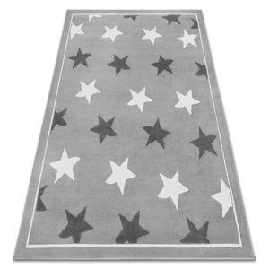 3kraft Kusový koberec BCF Stars šedo-bílý