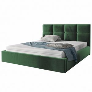 Hector Čalouněná postel Ksavier 140x200 dvoulůžko - zelené
