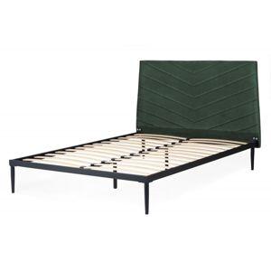Hector Čalouněná postel Medelin 140x200 dvoulůžko zelené