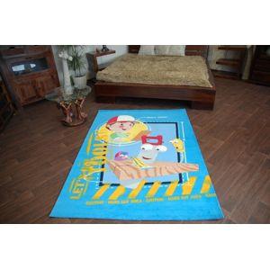 3kraft Dětský koberec HANDY MANNY tyrkysový