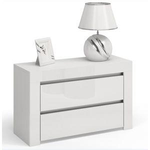 Shoptop Noční stolek DEKO D2 MAX bílý lesk