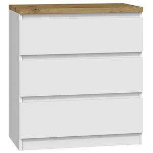 Shoptop Komoda ARTISAN M3 bílá - 3 šuplíky