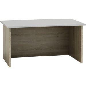 Shoptop Psací stůl STANDARD bílý, světlý dub