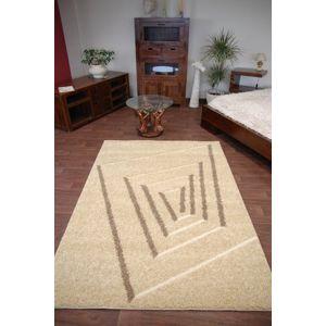 3kraft Kusový koberec STRUCTURAL TEDDY 240x330 cm vanilkový