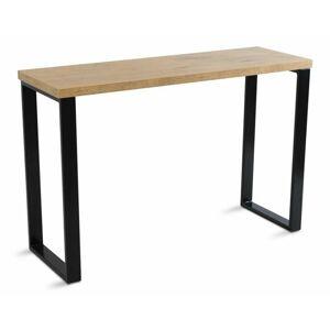 DekorStyle Psací stůl Biro 120x40 cm hnědý