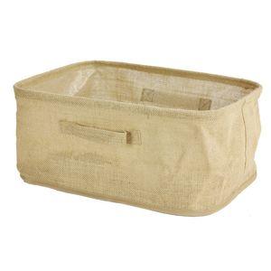 TZB Lněný koš na prádlo 40x30x18 cm