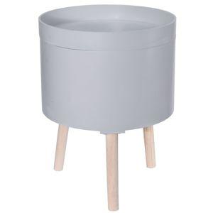 DekorStyle Konferenční stůl Bebo 35 cm šedý
