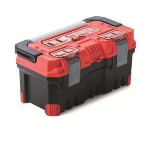 PlasticFuture Kufr na nářadí TITANIO 49,6x25,8x24 cm červeno-černý