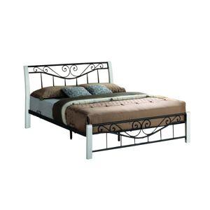 Hector Kovová postel Parma 160x200 dvoulůžko - bílé/černé