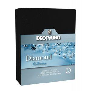 Bavlněné prostěradlo DecoKing DIAMOND černé