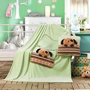 Dětská deka z mikrovlákna DecoKing Puppy zelená