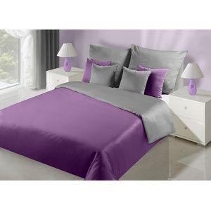 Povlečení DecoKing Luxury fialovo-šedé