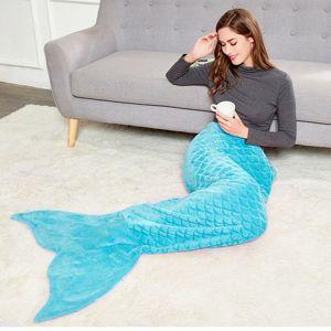Deka z mikrovlákna mořská panna DecoKing Siren tyrkysová