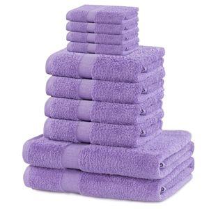 Set ručníků DecoKing Kunis fialové