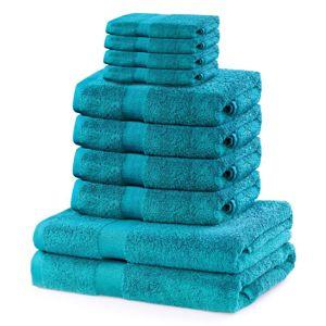 Set ručníků DecoKing Kunis tyrkysové