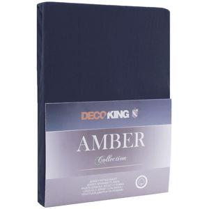 DecoKing Bavlněné prostěradlo AmeliaHome AMBER námořnicky modré