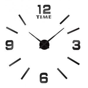 TZB Nástěnné hodiny Diy BAST 3D - černé