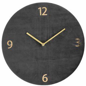DekorStyle Nástěnné hodiny tmavě šedé 37 cm