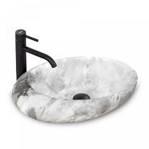 Keramické umyvadlo na desku Rea Roxy B Stone L. šedé