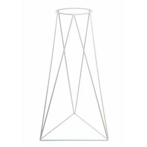 DekorStyle Moderní stojan na květináč 60 cm bílý