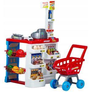 MULTISTORE Plastový supermarket pro děti - 24 dílů