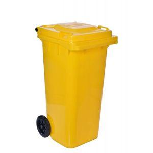 TZB Popelnice na odpad 120L  - žlutá
