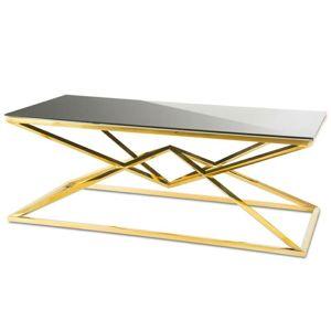 DekorStyle Konferenční stolek Diamanto Gold Black 2