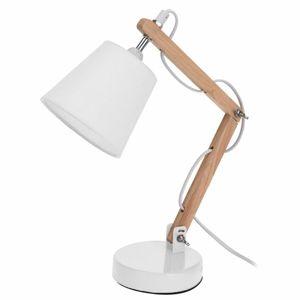 DekorStyle Bílá stolní lampa se stínidlem