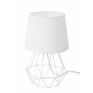 DekorStyle Stolní lampa DIAMENT II bílá