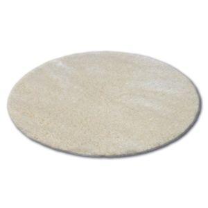 3kraft Kulatý koberec SHAGGY NARIN krémový