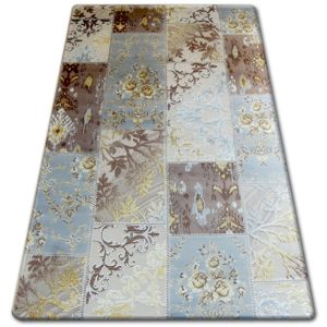 3kraft Kusový koberec CARMINA Hoiza krémovo-šedo-hnědý