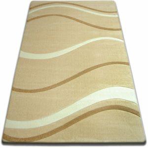 3kraft Kusový koberec FOCUS - 8732 mořské vlny / česnekový / béžový / zlatý