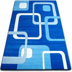 3kraft Kusový koberec FOCUS - F240 modrý čtverce