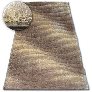 3kraft Kusový koberec Shaggy SPACE 3D JASON světle hnědý