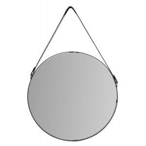 Tutumi Kulaté zrcadlo Loft 65 cm se závěsným páskem černá