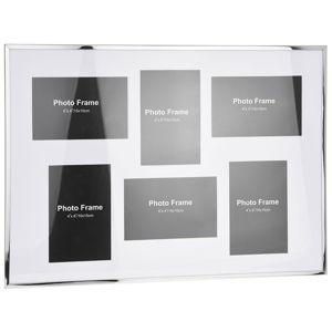 DekorStyle Rámeček na stěnu - 6 fotografií 10 x 15 cm - bílá