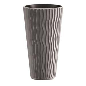 PlasticFuture Květináč Long Sandy šedý