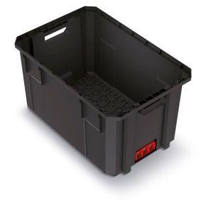 PlasticFuture Přepravní box X BLOCK PRO 54,4x36,2x30 cm černý