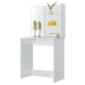 MODERNHOME Toaletní stolek se zrcadlem Stinie bílý